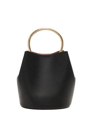 MANGO Metallic handle bag