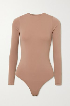 Essential Crew Neck Thong Bodysuit - Tiger's Eye