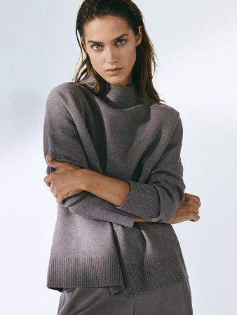 Funnel collar sweater - Women - Massimo Dutti