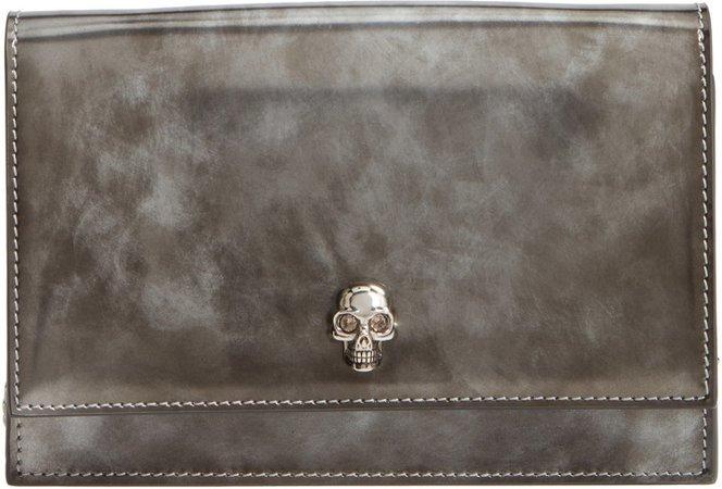 Mini Skull Brushed Leather Crossbody Bag