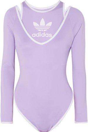 adidas Originals | Haut et body en jersey à rayures Kendall x Ji Won Choi | NET-A-PORTER.COM