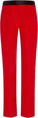 Tuxedo Tapered Straight-Leg Pants
