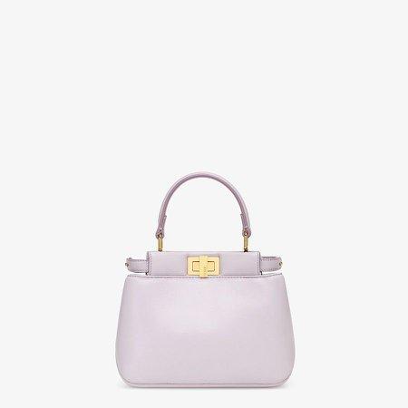 Lilac nappa leather bag - PEEKABOO ICONIC XS   Fendi