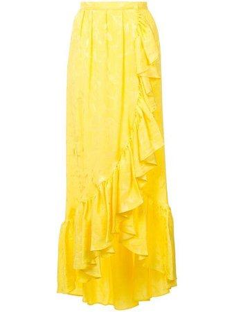 Attico Long Ruffled Skirt - Farfetch