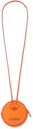 Le Pitchou Mini Textured-leather Pouch - Orange