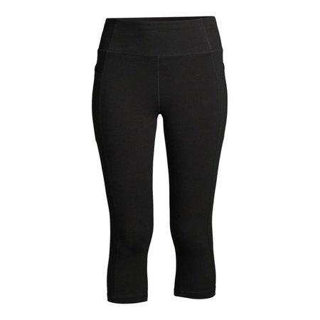 Athletic Works - Athletic Works Women's Capris with Side Pockets - Walmart.com - Walmart.com black