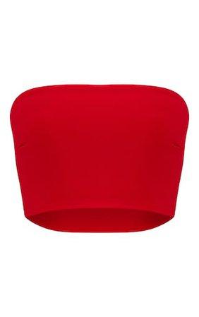Shape Red Bandeau Crop Top. PLT Shape | PrettyLittleThing USA