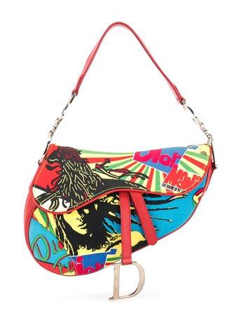 Christian Dior pre-owned Rasta Saddle Shoulder Bag - Farfetch