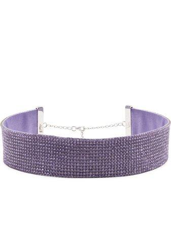 Nué rhinestone-embellished necklace purple 101 - Farfetch