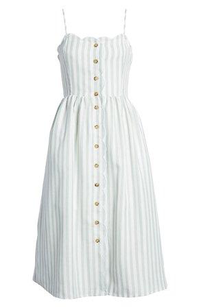 English Factory Scallop Edge Midi Dress | Nordstrom