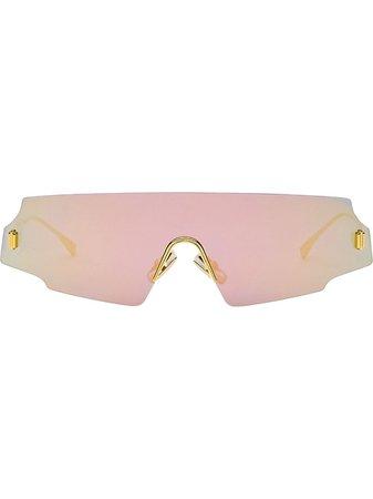 Fendi Fendi Forceful shield sunglasses with Express Delivery - Farfetch