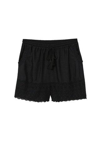 MANGO Openwork panels shorts