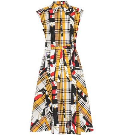 Archive Scarf print cotton dress