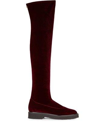 Giuseppe Zanotti velvet over-the-knee boots - FARFETCH