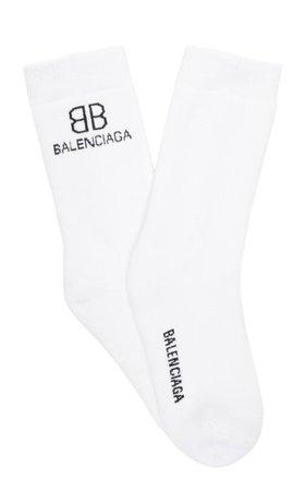 Bb Intarsia-Knit Socks By Balenciaga   Moda Operandi