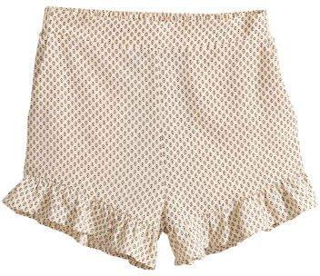 Ruffle-trimmed Shorts - Beige