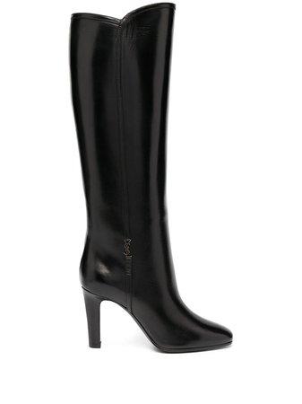 Saint Laurent Jane Monogram Leather Boots - Farfetch