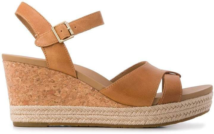 Cloverdale jute-trimmed cork wedges