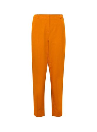Orange Ankle Grazer Trousers | Dorothy Perkins
