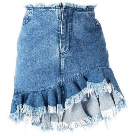 Marques'almeida ruffled denim skirt ($685)