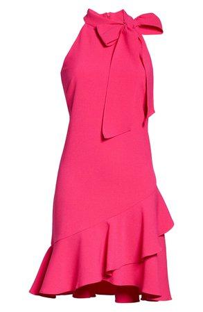 Vince Camuto Kors Bow Neck Sleeveless Dress pink