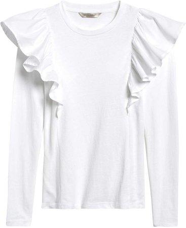 JAPAN EXCLUSIVE Ruffle Sleeve T-Shirt