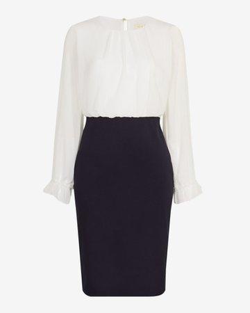 Pencil skirt midi dress - Dark Blue | Workwear | Ted Baker UK