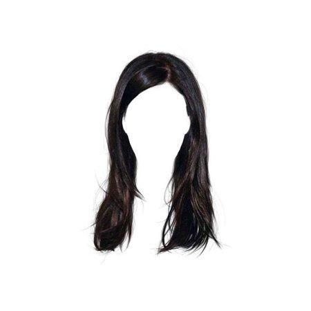 black hair png doll