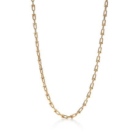 Tiffany HardWear link necklace in 18k gold. | Tiffany & Co.