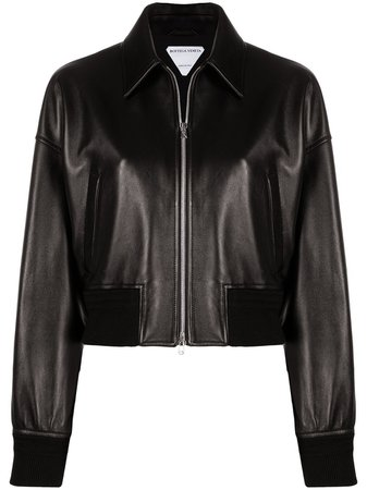 Bottega Veneta Leather bomber-style Jacket - Farfetch