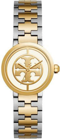Reva Watch, Two-Tone Gold/Stainless Steel/Ivory, 28 MM