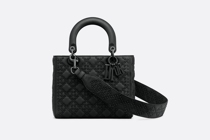 Lady Dior ultra black bag