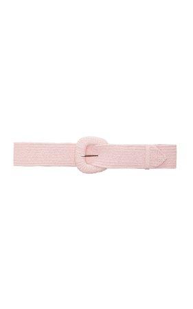 LoveShackFancy Ambrose Raffia Belt Size: XS/S