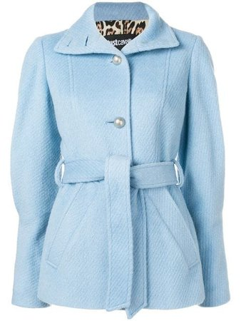 Just Cavalli Belted Short Coat