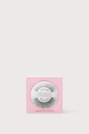 Eyelashes with Glue - Pink
