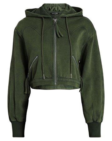 Retrofête Cropped Zip-Up Hooded Sweatshirt | INTERMIX®
