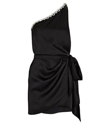 David Koma One-Shoulder Embellished Mini Dress   INTERMIX®