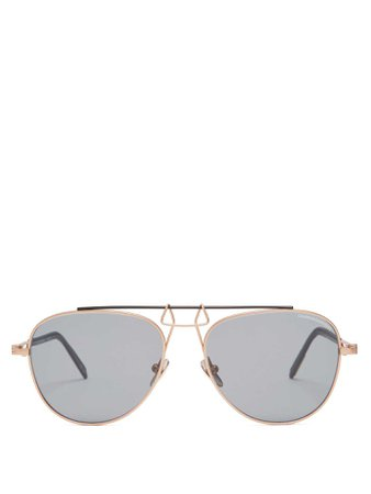Aviator-frame metal sunglasses | CALVIN KLEIN 205W39NYC | MATCHESFASHION.COM FR