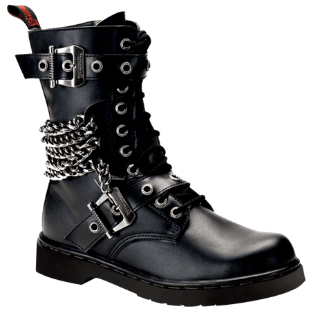 Mens Chained Combat Boots - FW2156 from Medieval Collectibles