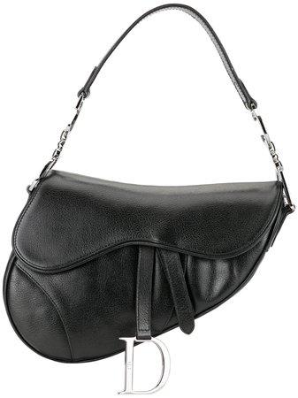 Black Christian Dior Pre-Owned Saddle Hand Bag | Farfetch.com