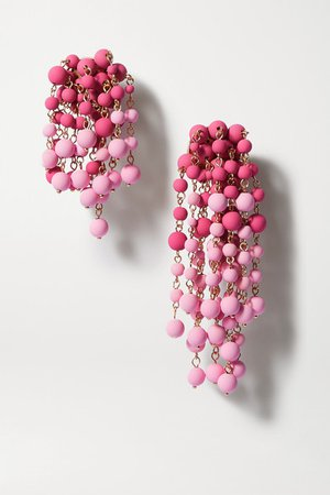 Jacquemus | Les Mimosas beaded gold-tone earrings | NET-A-PORTER.COM