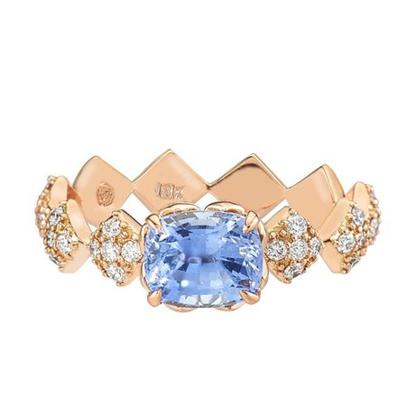 Julia Engagement Ring with Blue Sapphire Center Stone by GiGi Ferranti
