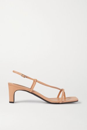 Leather Sandals - Beige