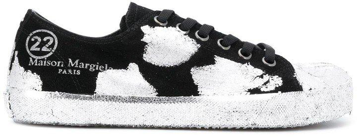 Tabi paint-effect sneakers
