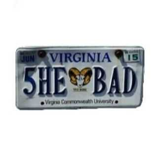she bad license plate