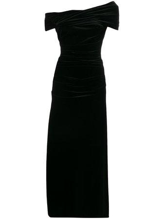 Talbot Runhof velvet long dress - Farfetch