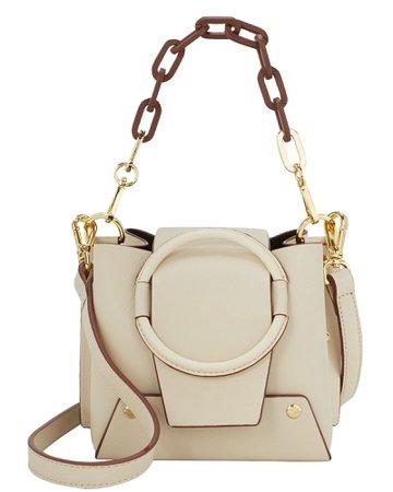 Delila Beige Two-Tone Chain Bag