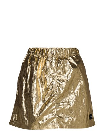 Calvin Klein Jeans Gold Mini Skirt (Gold) (109.90 €) - Calvin Klein Jeans - | Boozt.com