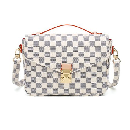 RICHPORTS - RICHPORTS Checkered Tote Shoulder Handbags Bag with inner pouch PU Vegan Leather - Walmart.com - Walmart.com