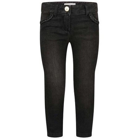 Chloe Girls Black Denim Stretch Jeans - Jeans - Department - Girl